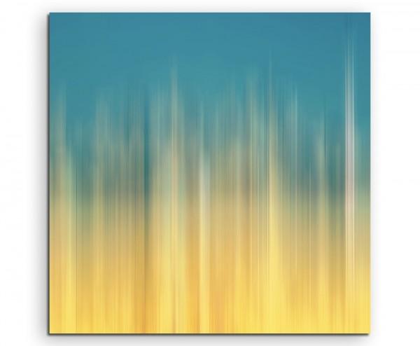 Abstraktes Bild – Blau Orange auf Leinwand exklusives Wandbild moderne Fotografie für ihre Wand in v