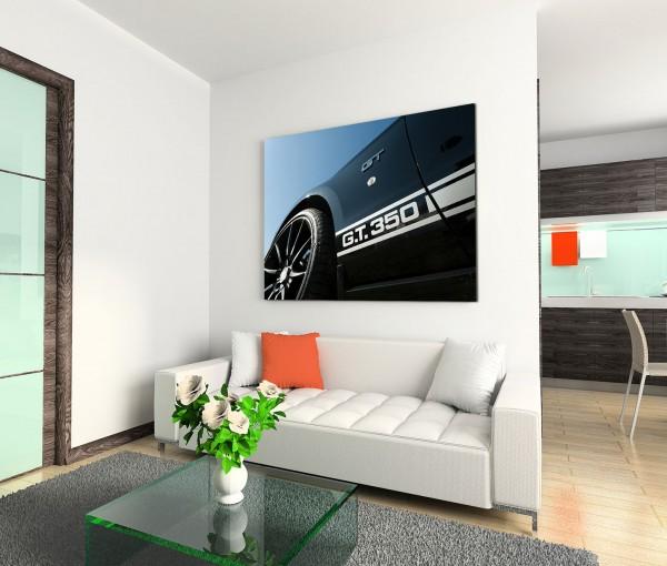 120x80cm Wandbild Shelby Mustang Auto Nahaufnahme