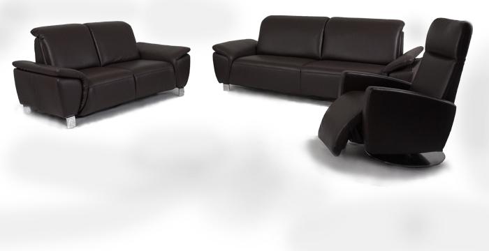 sofagarnitur pablo echtleder mocca m bel. Black Bedroom Furniture Sets. Home Design Ideas