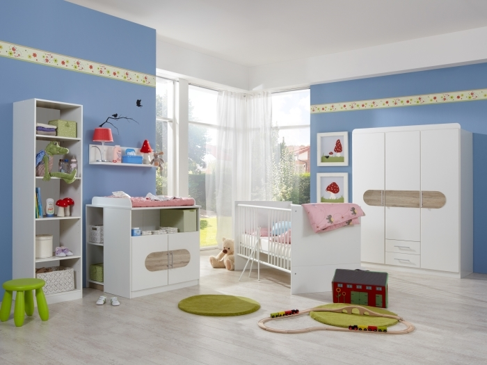 Babyzimmer Lilly von Wimex in Eiche San Remo 7 teiliges Superset