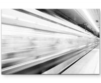 schneller Zug – U-Bahnstation - Leinwandbild
