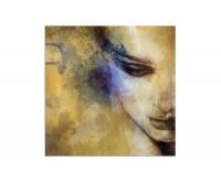 80x80cm Frau Gesicht Kunst abstrakt
