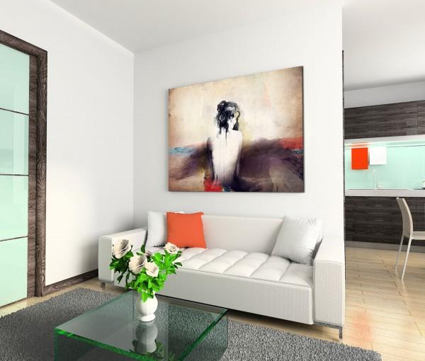 120x80cm Wandbild Malerei Wasserfarben Frau Rücken abstrakt