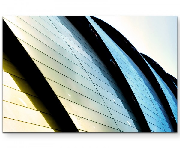 Modernes Bürogebäude - Leinwandbild