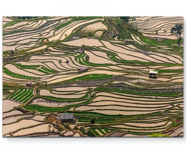 Reisterrassen in Yuanyang Hani - Leinwandbild