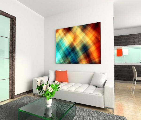 120x80cm Wandbild Hintergrund abstrakt modern bunt