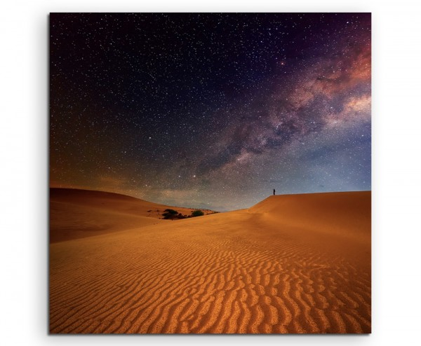 Naturfotografie – Wüste unter dem Sternenhimmel auf Leinwand