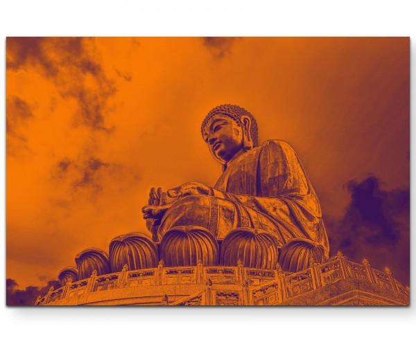Großer Buddha in Hong Kong - Leinwandbild