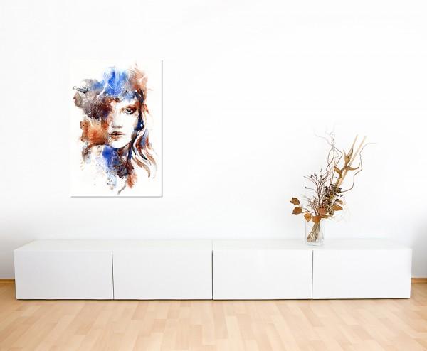 120x80cm Handmalerei Frau Gesicht abstrakt