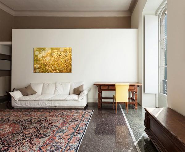 120x80cm Korn Feld Wiese Sommer golden