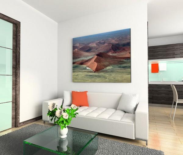 120x80cm Wandbild Namibia Meer Sanddünen