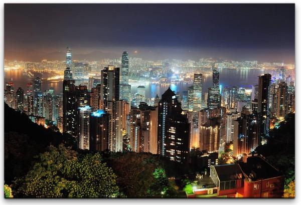 Hong Kong Wolkenkratzer Skyline Wandbild in verschiedenen Größen