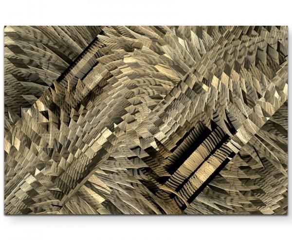 kreatives Design – verschiedene Strukturen in Brauntönen - Leinwandbild