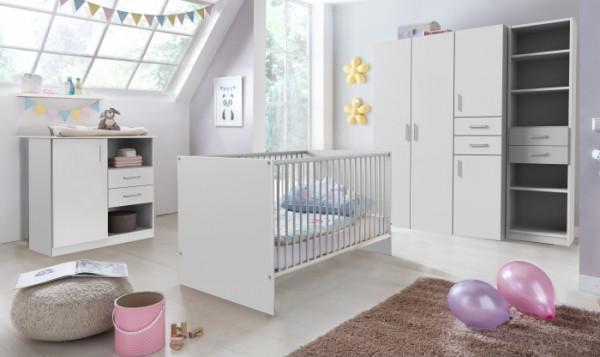 Babyzimmer Nicki 6 tlg. mit 4 trg. Schrank