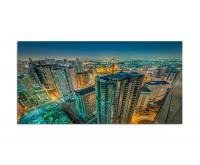 120x80cm Stadt Wolkenkratzer Lichter Sharjah