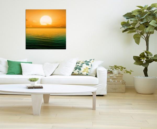 80x80cm Sonnenuntergang Meer Natur
