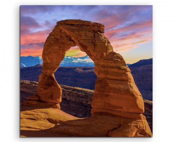 Landschaftsfotografie – Arches Nationalpark, Utah, USA auf Leinwand