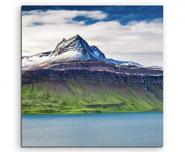 Landschaftsfotografie – Vulkanlandschaft, Island auf Leinwand