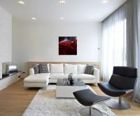 Künstlerische Fotografie – Rotwein Nahaufnahme auf Leinwand