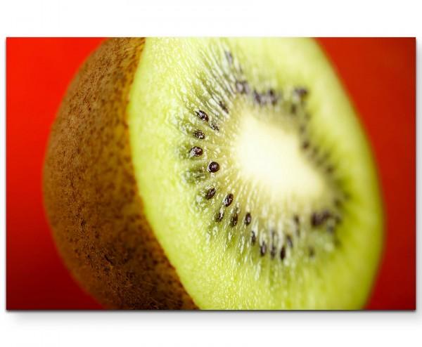 Kiwi – Fotografie Obst - Leinwandbild