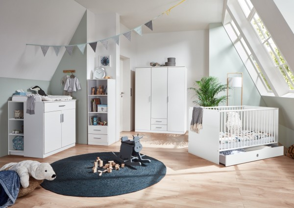 Babyzimmer Kiel 7 teilig in Weiß von Wimex +++ moebel-direkt +++ schnell und günstig