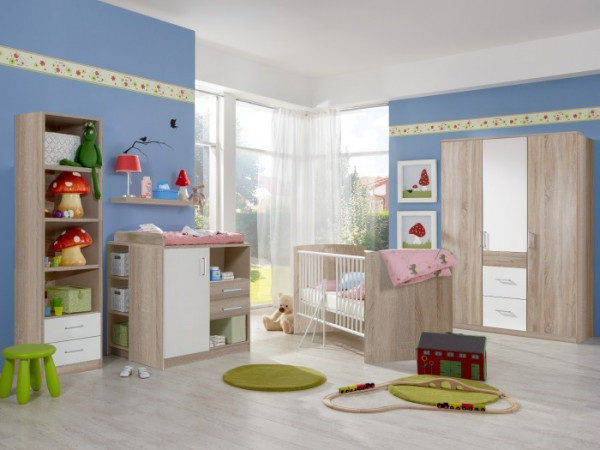 Babyzimmer nicki 7tlg mit 3trg schrank m bel - Babyzimmer bella ...