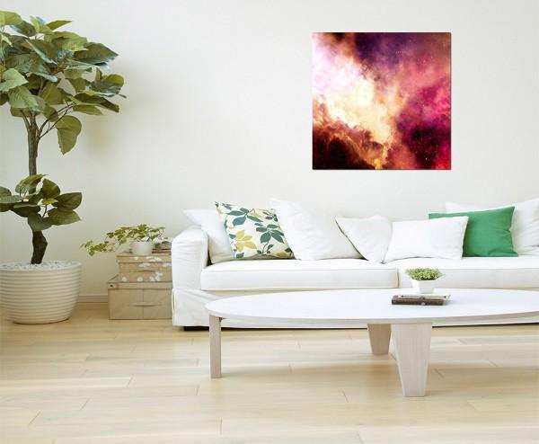 80x80cm Farben Qualm Rauch Schleier