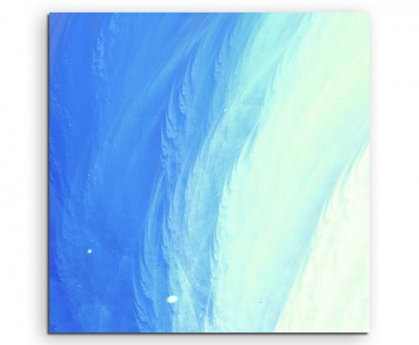 Künstlerische Fotografie – Hellblaue Meeresoberfläche auf Leinwand