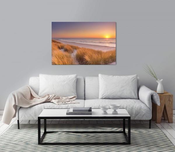 Dünen am Strand auf einer Insel Wandbild in verschiedenen Größen