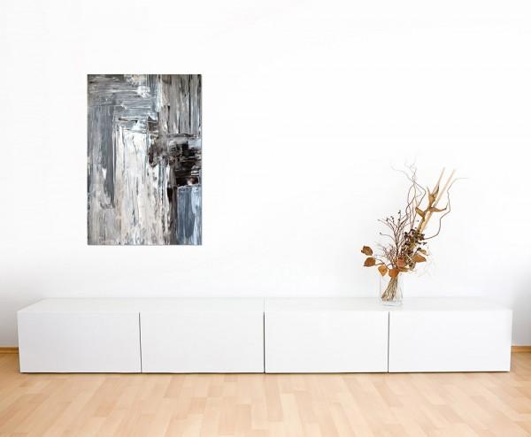120x80cm Kunst abstrakt Malerei braun/grau