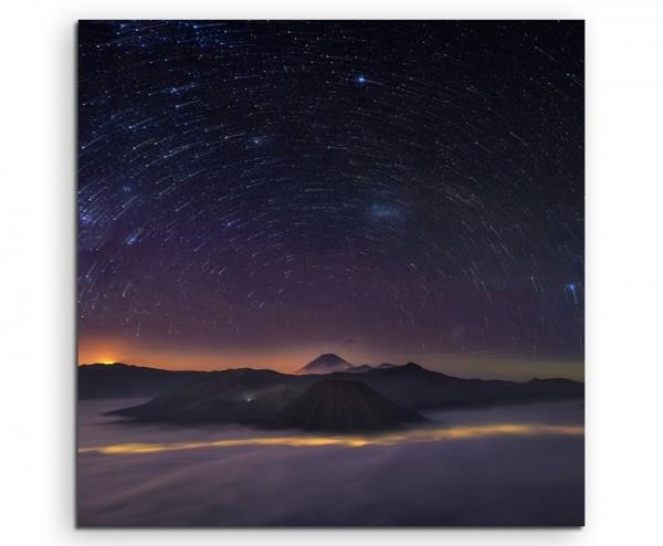 Landschaftsfotografie – Sterne und Berge auf Leinwand