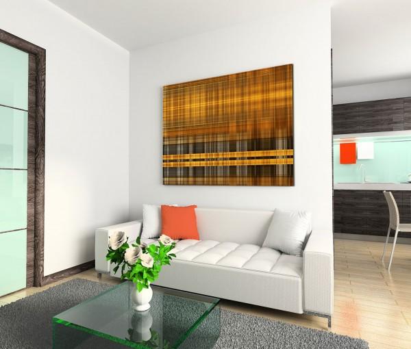 120x80cm Wandbild Kunst abstrakt Hintergrund braun grau gelb