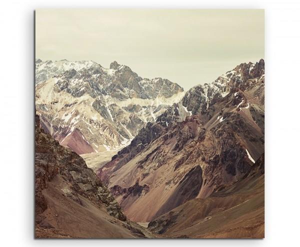 Landschaftsfotografie – Aconcagua Nationalpark, Argentinien auf Leinwand