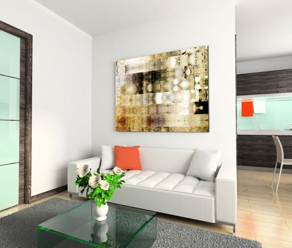 120x80cm Wandbild Hintergrund abstrakt grau braun grün beige