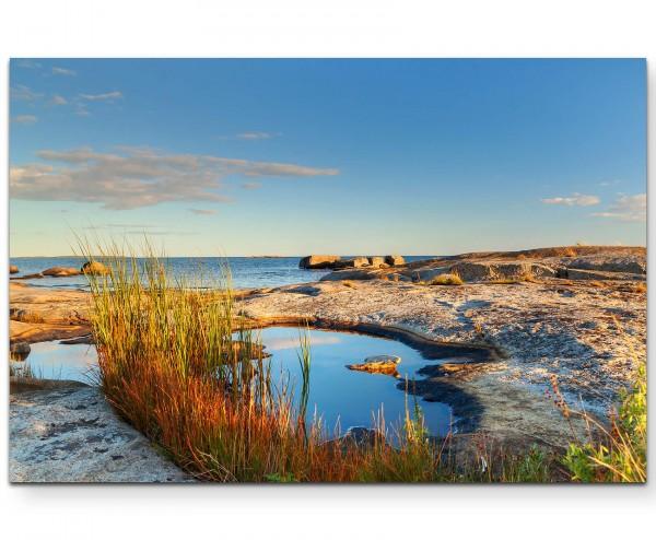 Landschaftsfotografie – Schweden am Meer - Leinwandbild