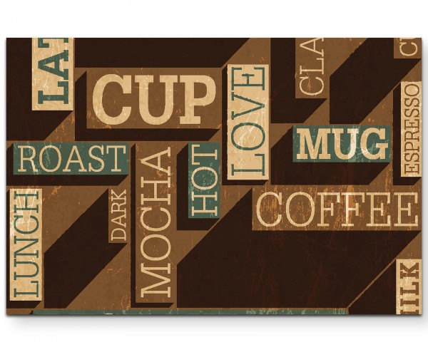 Illustration – Kaffeeliebe - Leinwandbild