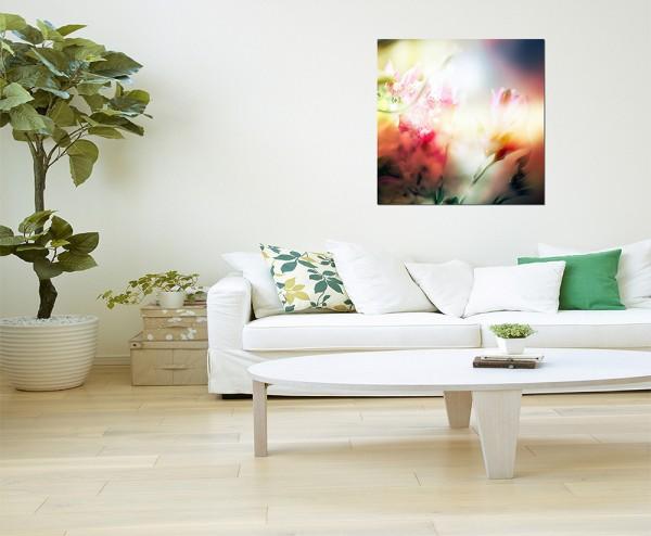 80x80cm Blume Blüte farbenfroh abstrakt