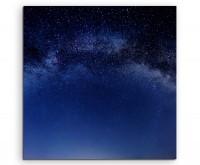 Naturfotografie – Milchstraße aus der nörlichen Hemisphäre auf Leinwand