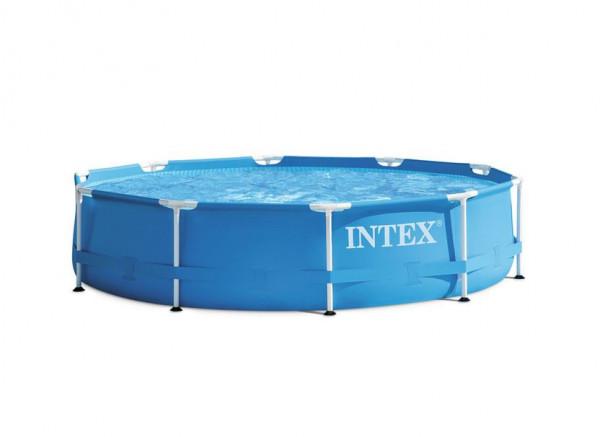 Intex 28202 Metal Frame Pool 305 x 76 cm mit Filterpumpe