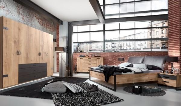 Schlafzimmer Detroit 5 teilig Superset mit Drehtürenschrank