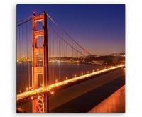 Urbane Fotografie - Golden Gate Bridge bei Nacht auf Leinwand