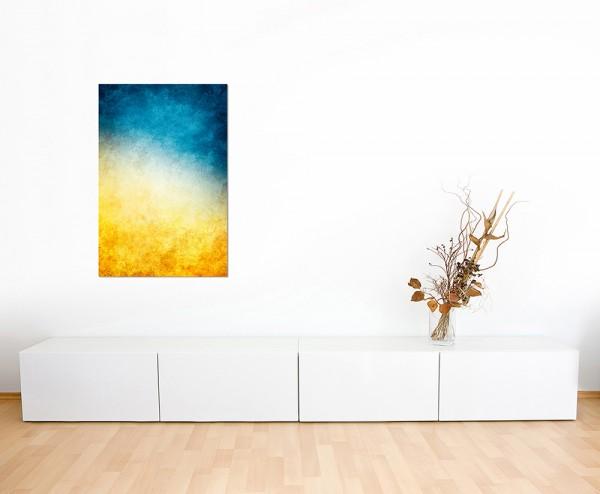 120x60cm Farben Hintergrund blau gelb