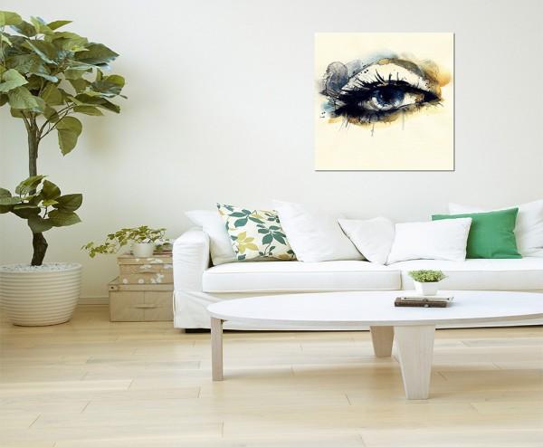 120x80cm Frau Auge Handmalerei abstrakt