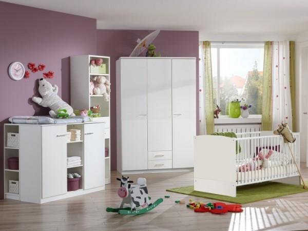 Babyzimmer Isabell Weiß 3-teilig