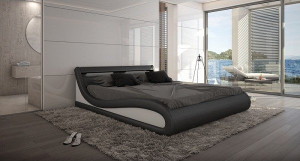 Bett Paladium 140 x 200 cm Schwarz