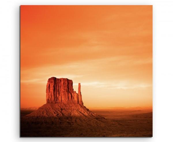 Landschaftsfotografie – Monument Valley bei Sonnenuntergang, Utah, USA auf Leinwand