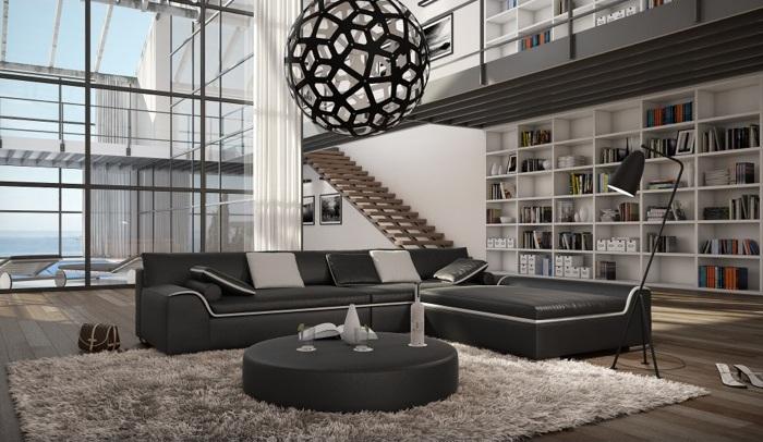 wohnlandschaft azure schwarz mit tisch innocent abholware m bel. Black Bedroom Furniture Sets. Home Design Ideas