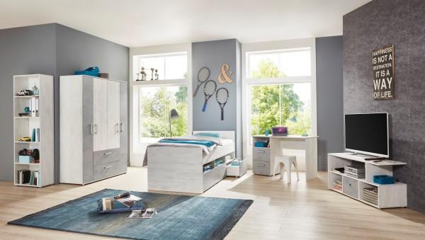 Jugendzimmer Insa 5 Teile in White Washed Wood und Stone von Arthur Berndt