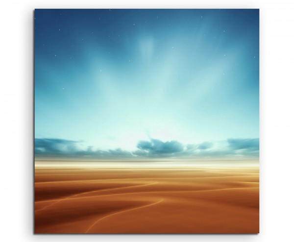 Illustration – Fantastische Marslandschaft auf Leinwand