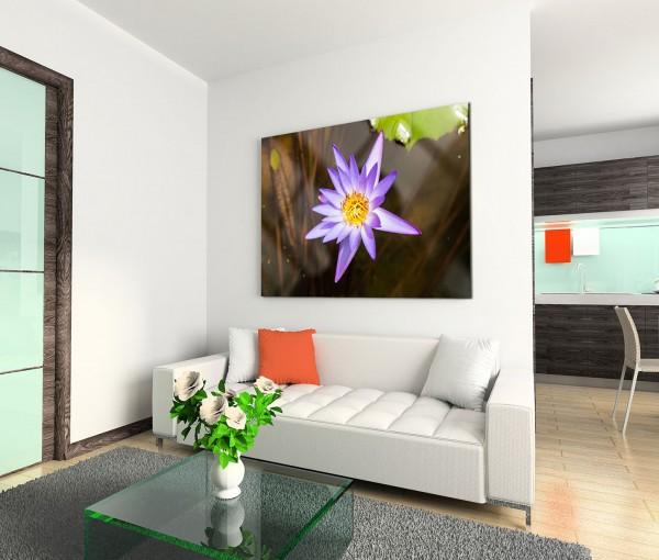 120x80cm Wandbild Wasserlilie Blüte
